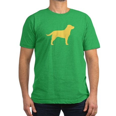 Yellow Lab Men's Fitted T-Shirt (dark)