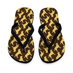 Yellow Labs Flip Flops