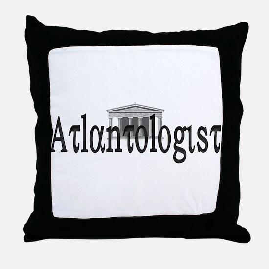 Atlantologist Throw Pillow