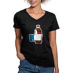 I Like Soda Women's V-Neck Dark T-Shirt