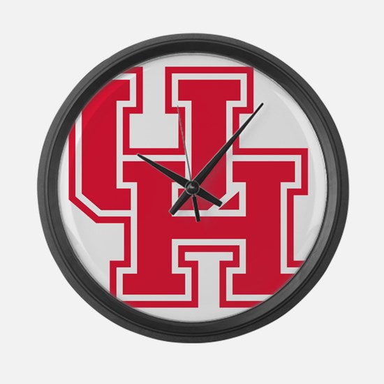 Houston Logo Red Large Wall Clock