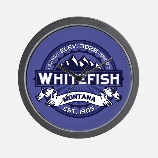 Whitefish Logo Midnight Wall Clock