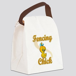 Fencing Chick #2 Canvas Lunch Bag