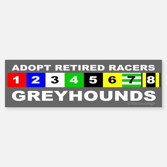 Adopt Greyhounds Bumper Bumper Bumper Sticker