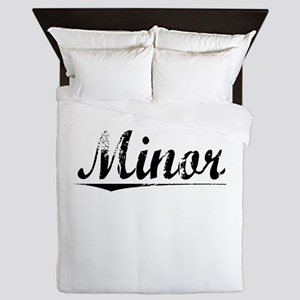 Minor, Vintage Queen Duvet