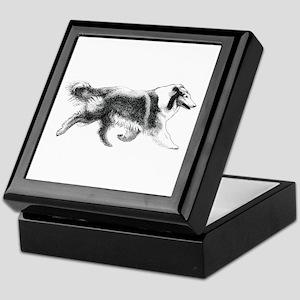 Running Collie Keepsake Box