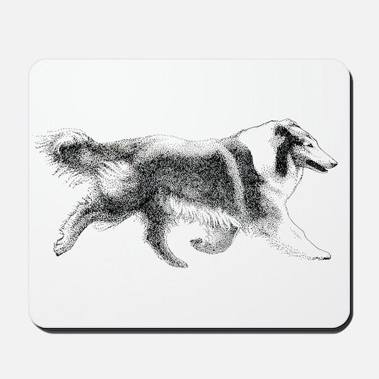 Running Collie Mousepad