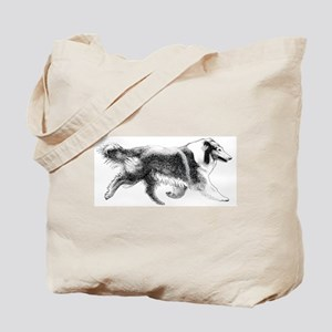 Running Collie Tote Bag