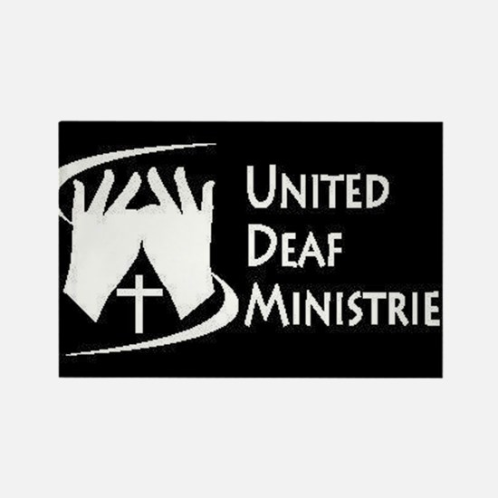 United Deaf Ministries Rectangle Magnet