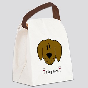 I Dig Wine copy Canvas Lunch Bag