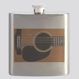 Old, Acoustic Guitar Flask