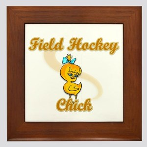 Field Hockey Chick #2 Framed Tile