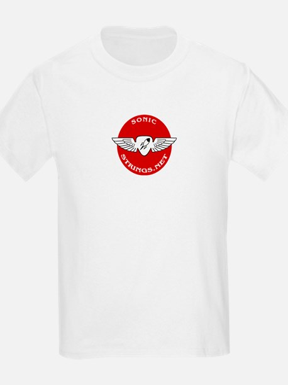 SonicStrings.net Wings Logo Kids T-Shirt