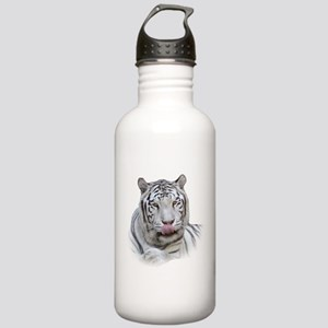 White Tiger Licking Lips Stainless Water Bottle 1.
