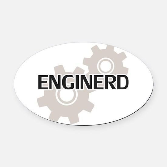 Cute Computer science nerd Oval Car Magnet