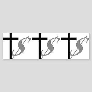 Atheist, Church and Money Sticker (Bumper)