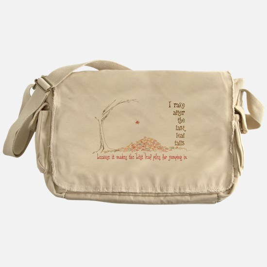 Leaf Pile Messenger Bag