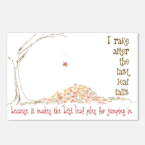 Leaf Pile Postcards (Package of 8)