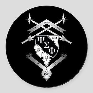 Psi Sigma Phi Crest Round Car Magnet