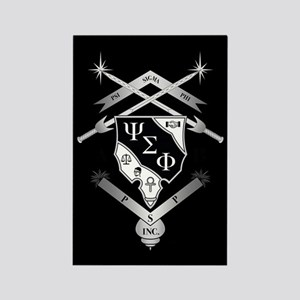 Psi Sigma Phi Crest Rectangle Magnet