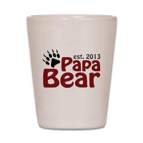 Papa Bear New Dad 2013 Shot Glass