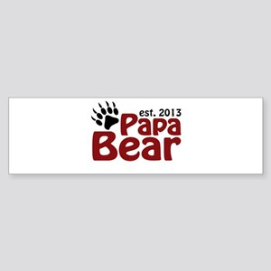 Papa Bear New Dad 2013 Sticker (Bumper)