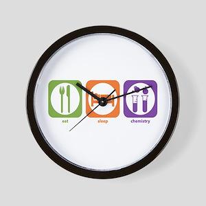 Eat Sleep Chemistry Wall Clock