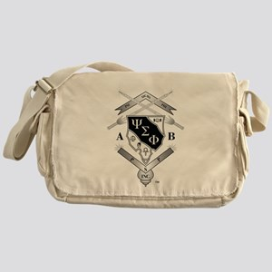 Psi Sigma Phi Crest Messenger Bag