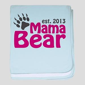 Mama Bear Claw Est 2013 baby blanket