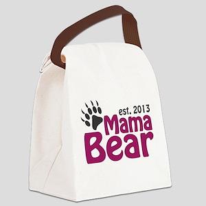 Mama Bear Claw Est 2013 Canvas Lunch Bag