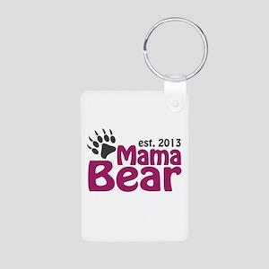 Mama Bear Claw Est 2013 Aluminum Photo Keychain