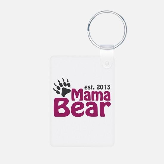 Mama Bear Claw Est 2013 Keychains