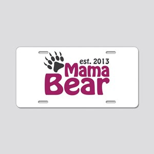 Mama Bear Claw Est 2013 Aluminum License Plate