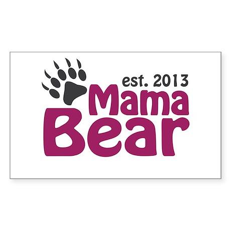 Mama Bear Claw Est 2013 Sticker (Rectangle)