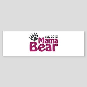 Mama Bear Claw Est 2013 Sticker (Bumper)