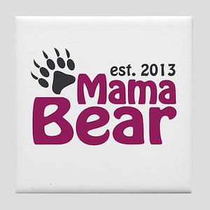 Mama Bear Claw Est 2013 Tile Coaster