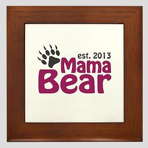 Mama Bear Claw Est 2013 Framed Tile