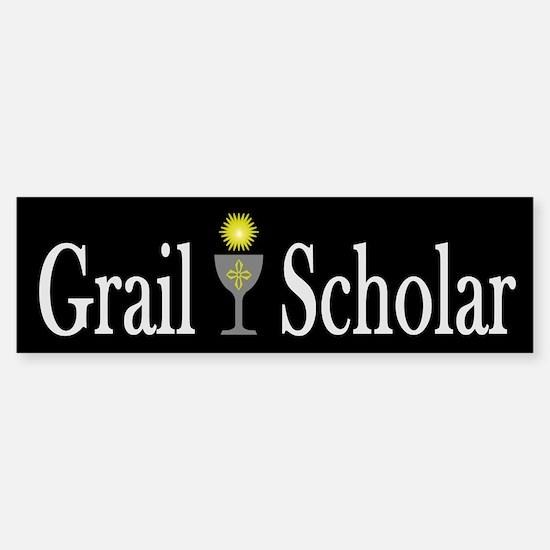 Grail Scholar Dark Bumper Bumper Bumper Sticker
