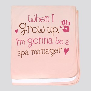 Future Spa Manager baby blanket