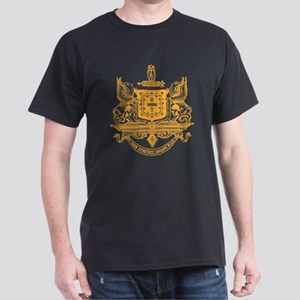 Psi Upsilon Fraternity Crest in Gold Dark T-Shirt
