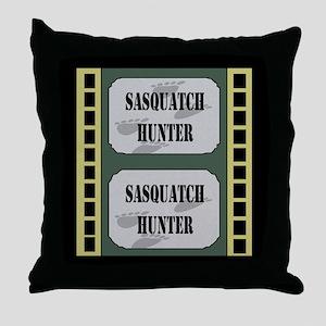 Sasquatch Hunter Throw Pillow