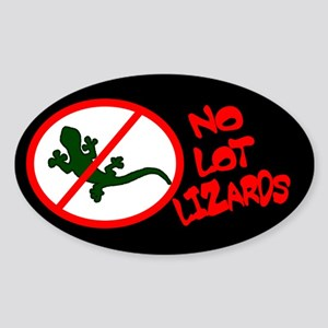 No Lot Lizards Oval Sticker