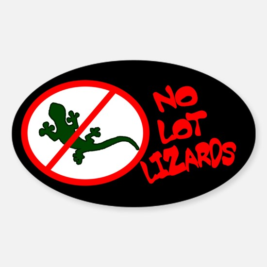 No Lot Lizards Oval Decal