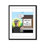 Vet Taxidermist Framed Panel Print