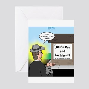 Vet Taxidermist Greeting Card