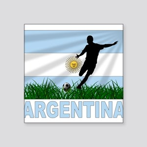"argentina Square Sticker 3"" x 3"""