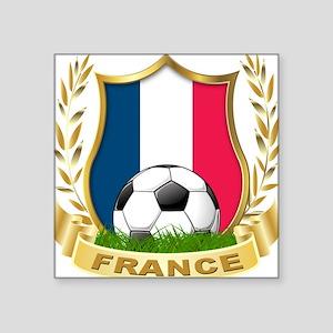 "France Square Sticker 3"" x 3"""