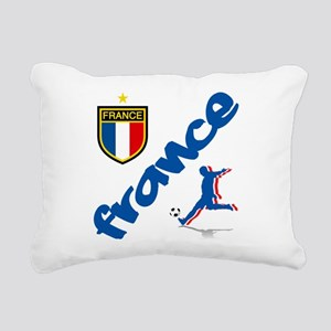 France World Cup Soccer Rectangular Canvas Pillow
