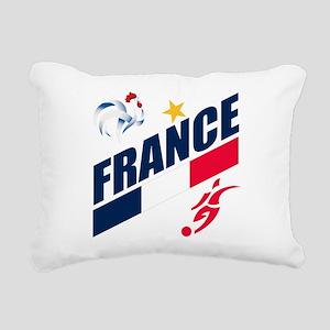 France World Cup Soccer Rectangular Canvas Pillow
