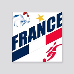 """France World Cup Soccer Square Sticker 3"""" x 3"""""""